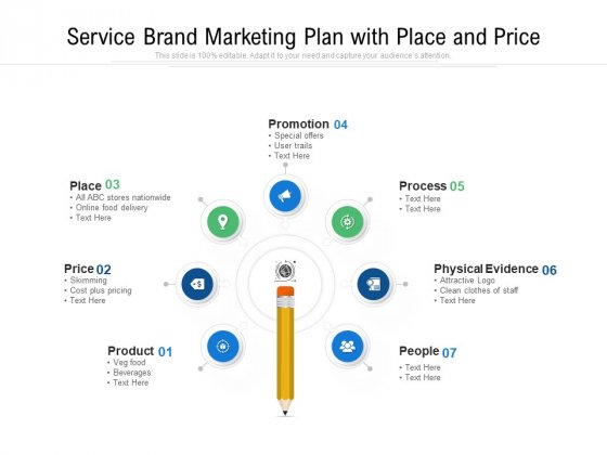 Service Brand Marketing Plan With Place And Price Ppt PowerPoint Presentation Gallery Elements PDF