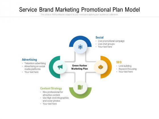 Service Brand Marketing Promotional Plan Model Ppt PowerPoint Presentation Gallery Introduction PDF