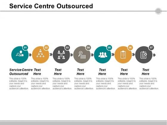 Service Centre Outsourced Ppt PowerPoint Presentation Inspiration Smartart