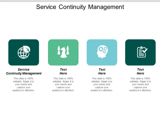 Service Continuity Management Ppt PowerPoint Presentation Infographics Pictures Cpb