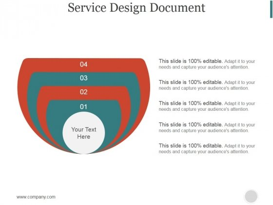 Service Design Document Slide Ppt PowerPoint Presentation Sample