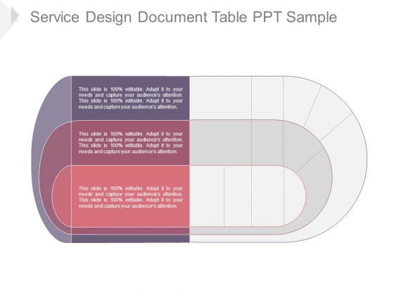 Service design document table ppt sample powerpoint for Table design sample