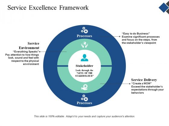 Service Excellence Framework Ppt Powerpoint Presentation Layouts Background Image