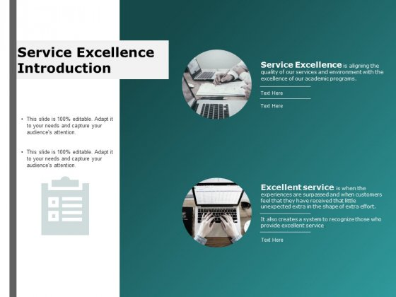 service excellence introduction ppt powerpoint presentation outline file formats