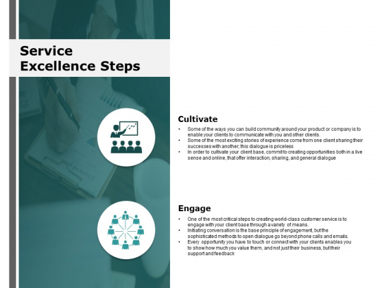 Service Excellence Steps Cultivate Ppt Powerpoint Presentation Inspiration Mockup