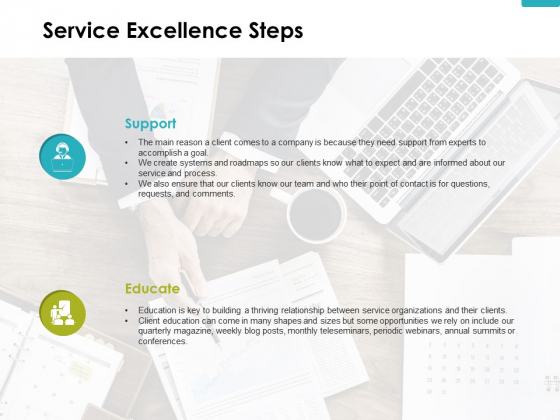 Service Excellence Steps Ppt PowerPoint Presentation Icon Example File