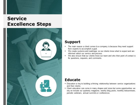 Service Excellence Steps Ppt Powerpoint Presentation Outline Design Inspiration