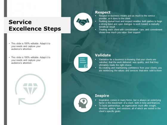 Service Excellence Steps Respect Ppt Powerpoint Presentation Summary File Formats