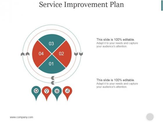 Service Improvement Plan Ppt PowerPoint Presentation Diagrams