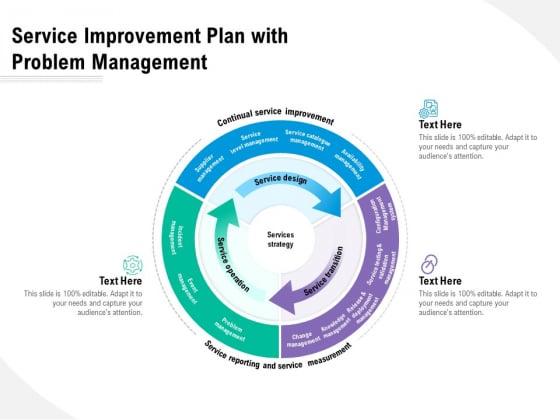 Service Improvement Plan With Problem Management Ppt PowerPoint Presentation Layouts Graphics Design PDF