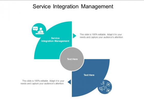Service Integration Management Ppt PowerPoint Presentation Inspiration Show Cpb