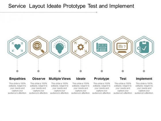 Service Layout Ideate Prototype Test And Implement Ppt Powerpoint Presentation Infographic Template Background Images