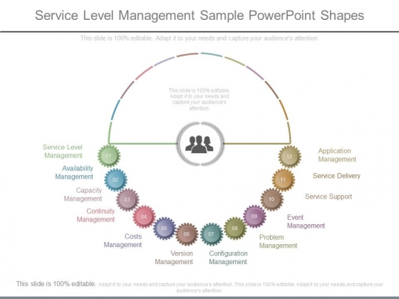 Service Level Management Sample Powerpoint Shapes