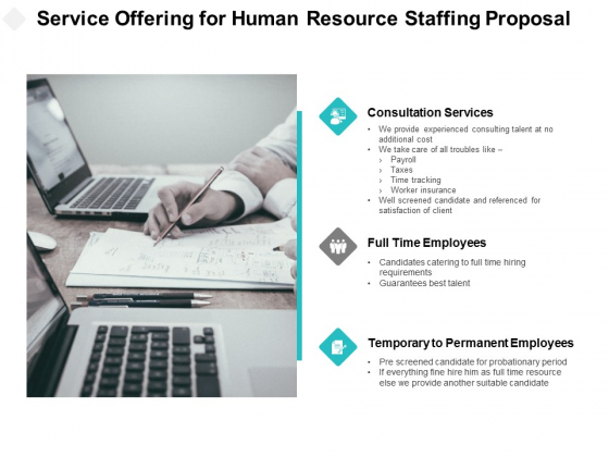 Service Offering For Human Resource Staffing Proposal Ppt PowerPoint Presentation Portfolio Inspiration
