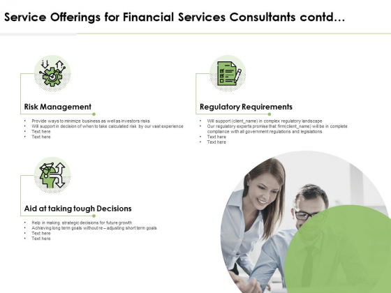 Service Offerings For Financial Services Consultants Contd Ppt PowerPoint Presentation Portfolio Tips