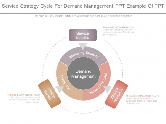 Service Strategy Cycle For Demand Management Ppt Example Of Ppt
