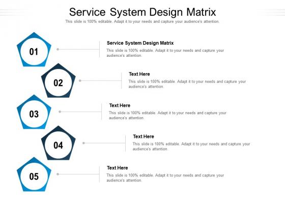 Service System Design Matrix Ppt PowerPoint Presentation Infographic Template Themes Cpb Pdf
