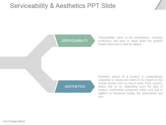 Serviceability And Aesthetics Ppt PowerPoint Presentation Ideas