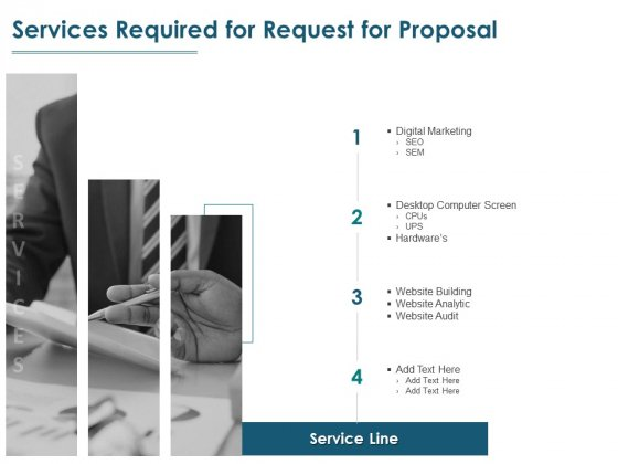 Services Required For Request For Proposal Ppt PowerPoint Presentation Professional Background