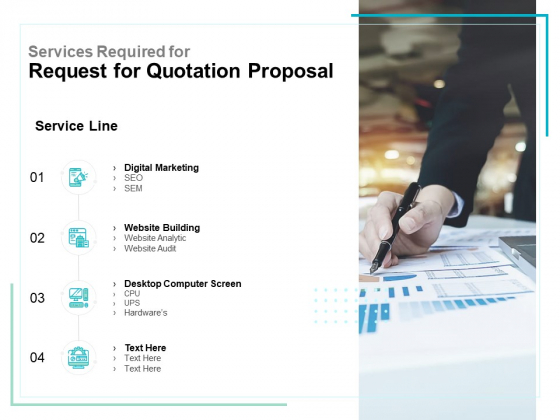Services Required For Request For Quotation Proposal Ppt PowerPoint Presentation Model Background Designs