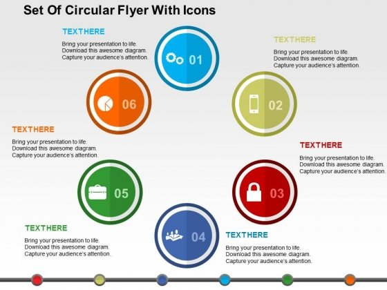 Set_Of_Circular_Flyer_With_Icons_Powerpoint_Templates_1