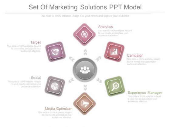 Set Of Marketing Solutions Ppt Model