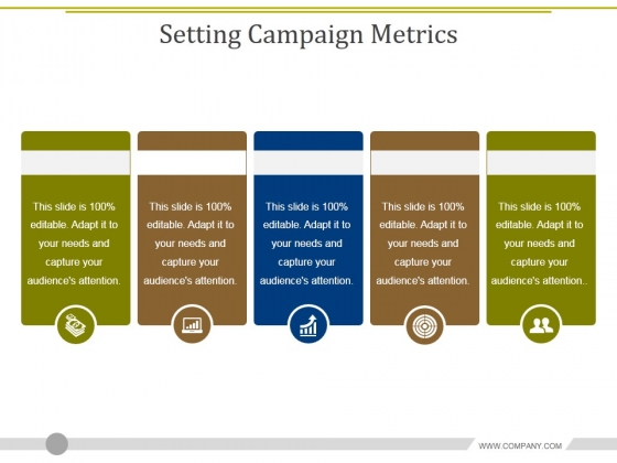 setting campaign metrics ppt powerpoint presentation slides file