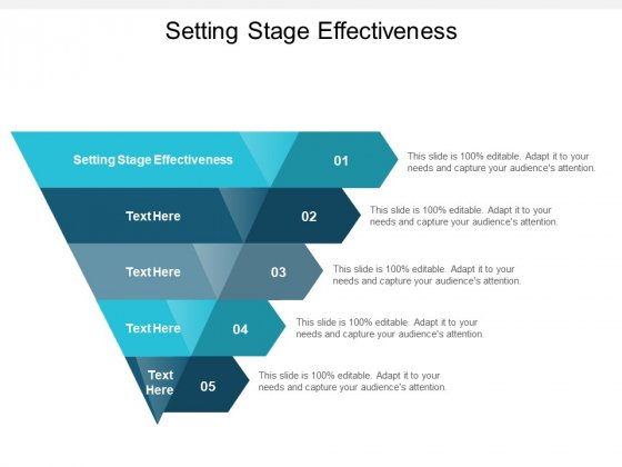 Setting Stage Effectiveness Ppt PowerPoint Presentation Layouts Topics Cpb