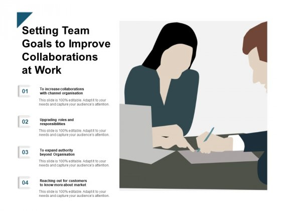 Setting Team Goals To Improve Collaborations At Work Ppt PowerPoint Presentation Portfolio Display
