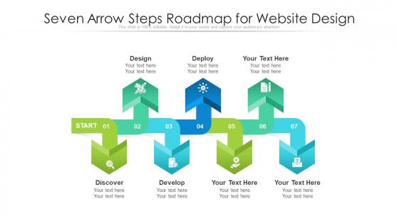 Seven Arrow Steps Roadmap For Website Design Ppt PowerPoint Presentation File Graphics Example PDF