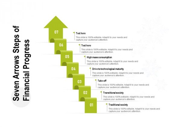 Seven Arrows Steps Of Financial Progress Ppt PowerPoint Presentation Pictures Slide Download