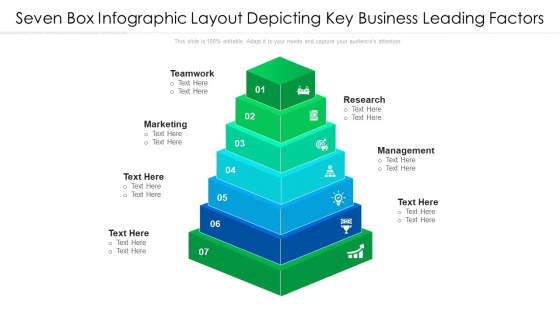 Seven Box Infographic Layout Depicting Key Business Leading Factors Ppt PowerPoint Presentation File Layout Ideas PDF