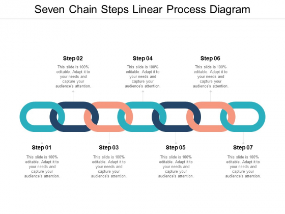 Seven Chain Steps Linear Process Diagram Ppt PowerPoint Presentation Icon Design Ideas