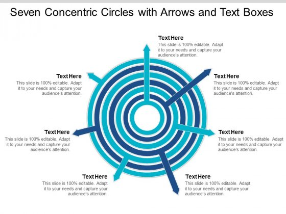 Seven Concentric Circles With Arrows And Text Boxes Ppt Powerpoint Presentation Icon Slides