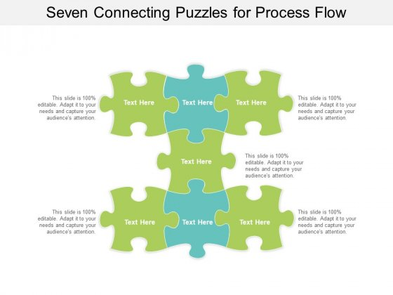 Seven Connecting Puzzles For Process Flow Ppt PowerPoint Presentation Infographics Examples