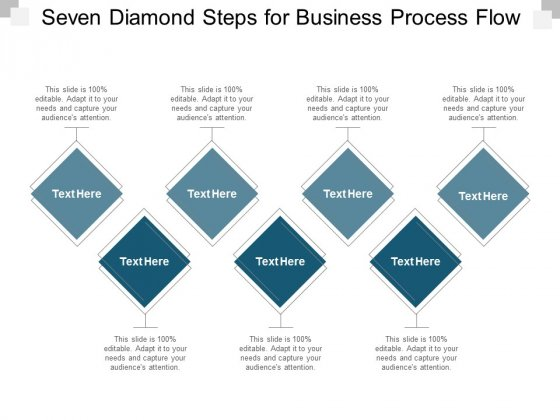 Seven Diamond Steps For Business Process Flow Ppt PowerPoint Presentation Inspiration Visuals