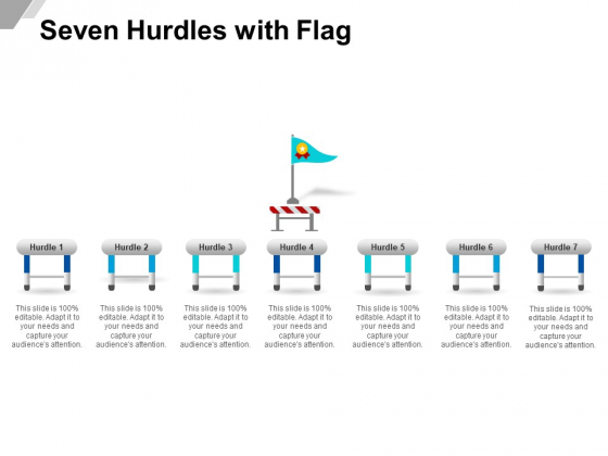 Seven Hurdles With Flag Ppt PowerPoint Presentation Visual Aids Backgrounds