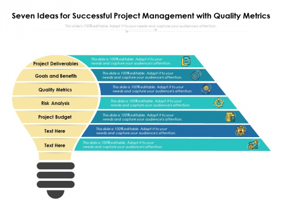 Seven Ideas For Successful Project Management With Quality Metrics Ppt PowerPoint Presentation Pictures Graphic Tips PDF