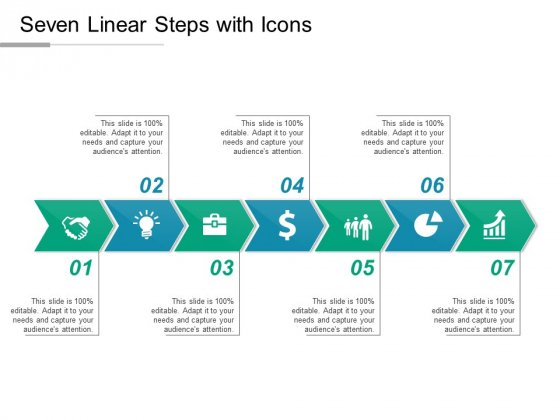 Seven Linear Steps With Icons Ppt PowerPoint Presentation Icon Files