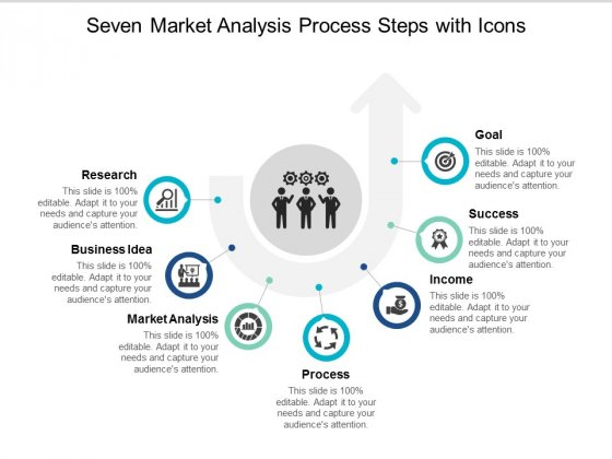 Seven Market Analysis Process Steps With Icons Ppt Powerpoint Presentation Infographic Template Show