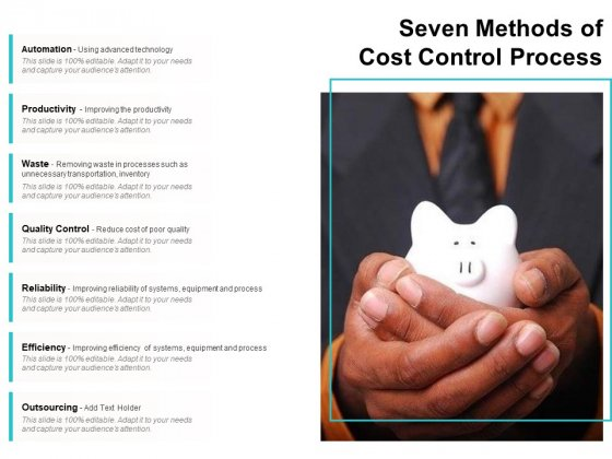 Seven Methods Of Cost Control Process Ppt PowerPoint Presentation Gallery Designs Download PDF