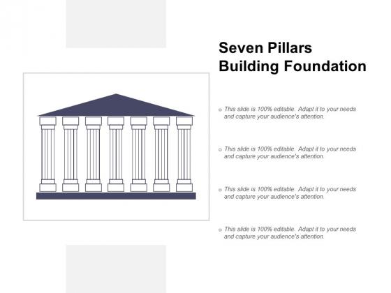 Seven Pillars Building Foundation Ppt PowerPoint Presentation Portfolio Picture
