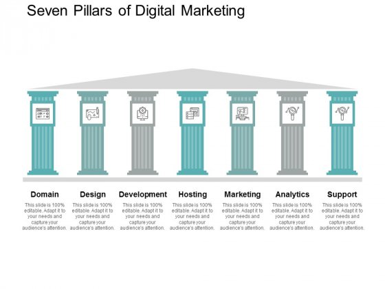 Seven Pillars Of Digital Marketing Ppt PowerPoint Presentation Gallery Icon