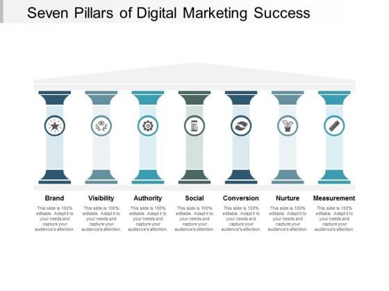 Seven Pillars Of Digital Marketing Success Ppt PowerPoint Presentation Styles Designs Download