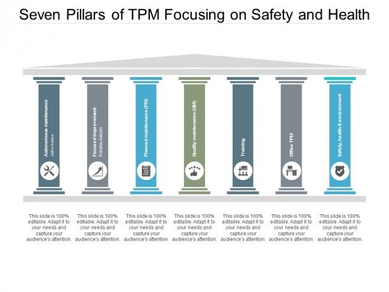 Seven Pillars Of Tpm Focusing On Safety And Health Ppt PowerPoint Presentation Ideas Graphics