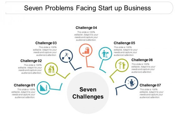 Seven Problems Facing Start Up Business Ppt PowerPoint Presentation Infographics Infographics