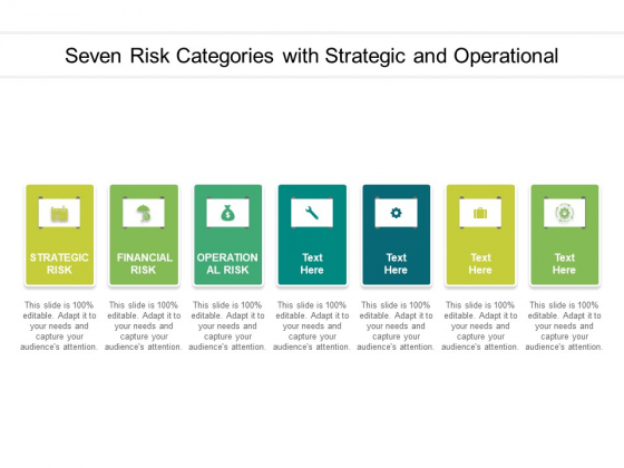 Seven Risk Categories With Strategic And Operational Ppt PowerPoint Presentation Outline Format PDF