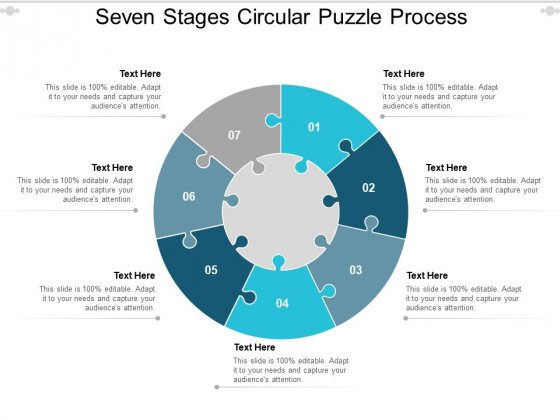 Seven Stages Circular Puzzle Process Ppt PowerPoint Presentation Styles Topics
