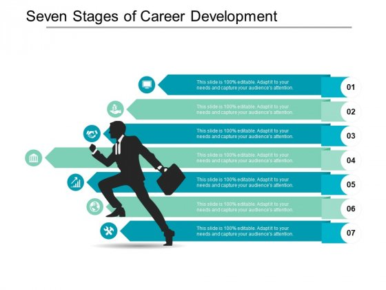 Seven Stages Of Career Development Ppt PowerPoint Presentation Infographic Template Template