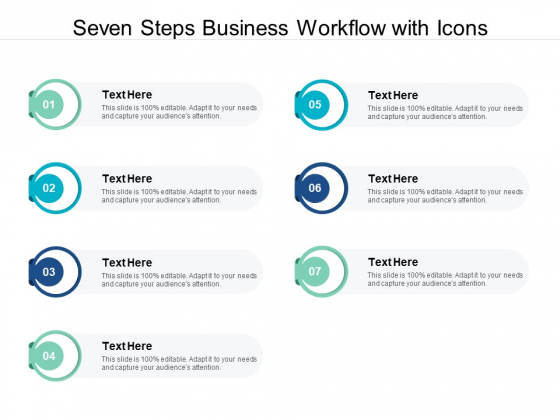Seven Steps Business Workflow With Icons Ppt PowerPoint Presentation Ideas Graphic Images